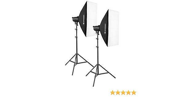 Bresser 50 X 70 Cm Softboxes And 200 Watt Brt Set Camera Photo