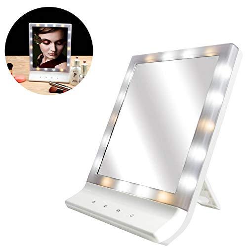 LEDHZJYLW Led Make-Up Spiegel Frauen Led Make-Up Kosmetikspiegel Mehrere Beleuchtung Großer...
