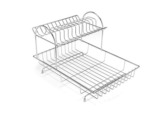 Addis 2-Tier Drainer Dish Draining Rack, Stainless Steel, 4-Piece