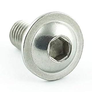 Eisenwaren2000 | M6 x 12 mm Linsenkopfschrauben mit Innensechskant und Flansch (50 Stück) - ISO 7380 Linsenkopf Schrauben mit Flachkopf und Bund - Gewindeschrauben - Edelstahl A2 V2A - rostfrei