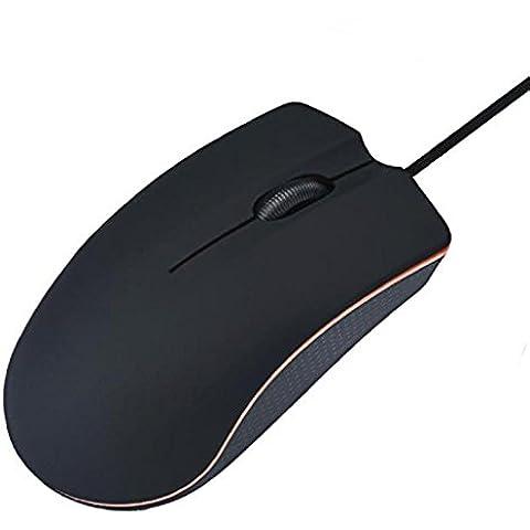Informática Accesorios ratones, Baonoopy juego mouse ratones para portátil PC con cable USB óptico (negro, púrpura, 9 cm x 5 cm x 3 cm)