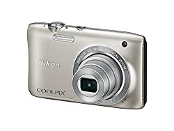 Nikon Coolpix S2900 20.1MP Point And Shoot Digital Camera (Silver) with 5x Optical Zoom