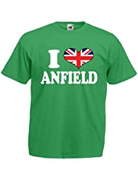 I Love Heart Anfield Liverpool Mens T Shirt