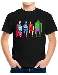 Avengers 8 Bit Kinder T-Shirt 116 - 164 | Fun