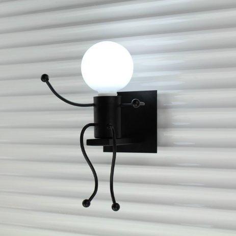 ZQ@QX Décor de maison de mode Lit moderne créative simple chaleureux dans l'étude des allées de chambre pour enfants peu lampe de mur 100 * 100 mm , Noir