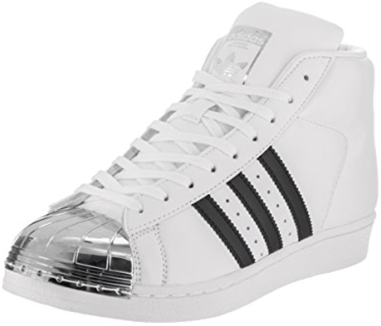 adidas pro femmes toe métal modèle toe femmes originaux occasionnel ftwwht / noir / Argent mt chaussures 7,5 b (m) 84a21e