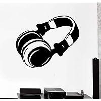 la moderna vinile adesivo cuffie musica pop rock muro adesivo muro del  salotto l arte 9abce8634b3c
