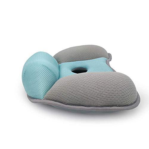 ZR&YW Schöne Hüfte Kissen Memory Foam Ergonomische Haltung Sitzpolster Für Bürostühle, Rollstuhl, Küchenstühle, Lehnstuhl, Autositze,Grau