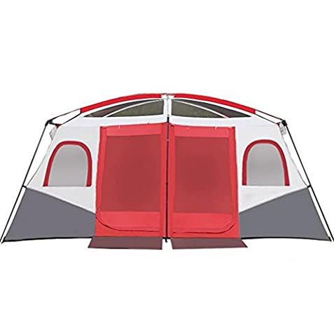 GOUQIN Tent Outdoor Camping 8-12 People Two Bedroom and One