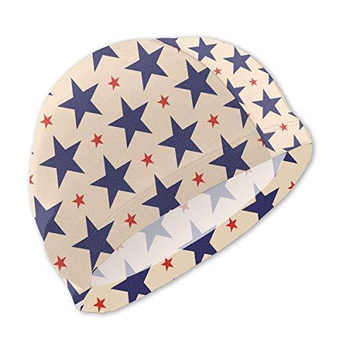 Schwimmhaube, Retro USA Stars Swim Caps for Kids Boys and Girls Baby Bathing Caps for Long and Short Hair