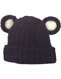 Demarkt Kinder Baby süße stricken Hüte Winter Strickmütze Hutumfang von 48-52cm Gelb