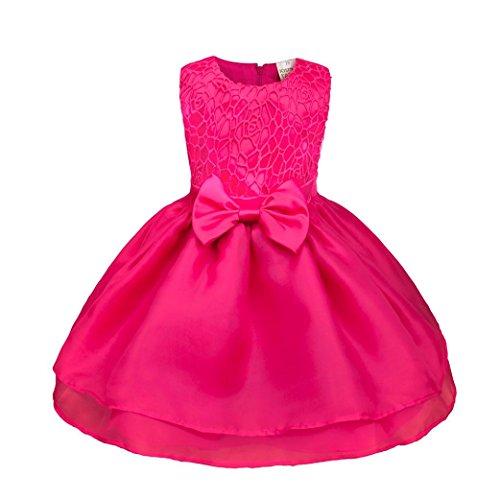 OverDose Kinder Baby Mädchen Ärmellos Blume Prinzessin Kleid Brautjungfer Pageant Kleid...
