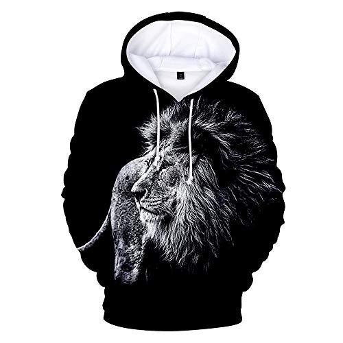 Störungen Im Sport Kostüm - SQQZ Hoodie Hoodies Herren Damen Kapuzenpullover Mann Sweatshirt Pullover Unisex, Mode 3D gedruckt Reißverschluss/Pullover Tier Grafik,Kleidung Sweatshirts mit Kapuze
