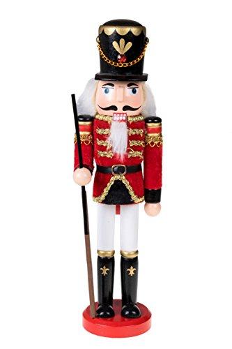 Clever Creations - Traditioneller Nussknacker-Soldat mit Gewehr - Festliche Weihnachtsdeko - perfekt für Regale & Tische - 100{f55b9fad4204e0de845a4a248f1d36221b9b8ade835c54a1ebca6074626ead8e} Holz - 30,5 cm