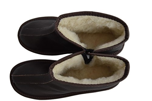 Natleat Slippers , Bottes Souples femme mixte adulte homme Brown / Leather