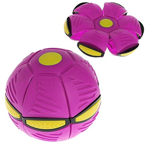 BeesClover Flying Flat Throw Disc Ball mit LED Licht Spielzeug Kinder Outdoor Garten Basketball Spiel violett - Ball Basketball-spiel