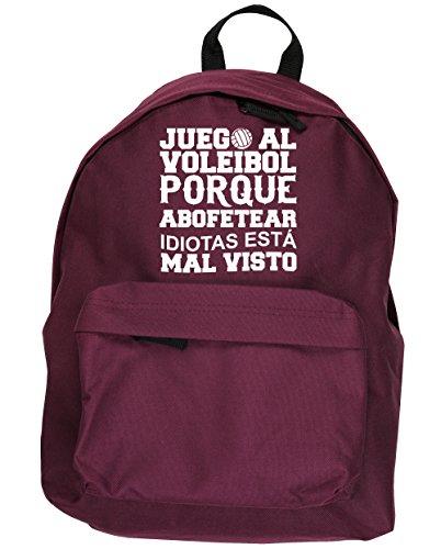 HippoWarehouse Juego al Voleibol Porque Abofetear Idiotas Está Mal Visto kit mochila Dimensiones: 31 x 42 x 21 cm Capacidad: 18 litros
