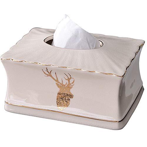 GJ Elch Keramik Tissue-Box, Rechteck Serviette Organizer für, für Badezimmer Esstisch Schlafzimmer Storage Organizer -