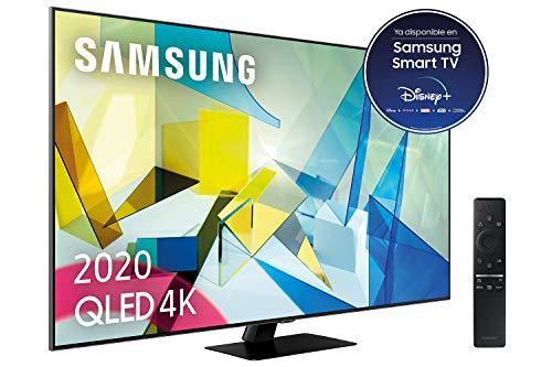 Oferta de Samsung QLED 4K 2020 55Q80T - Smart TV de 55 con Resolución 4K UHD, Direct Full Array HDR 1500, Inteligencia Artificial 4K, HDR 10+, Ambient Mode+, One Remote Control y Asistentes de Voz integrado