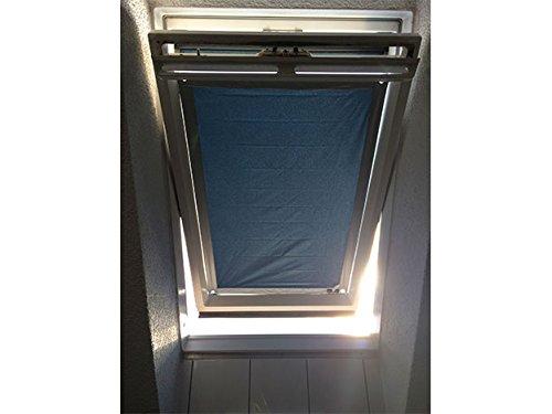 eXsun Sonnenschutz für Velux XY Dachfenster Rollo, Hitzeschutz, Verdunkelungsrollo - mit Krafthaftsaugern, kein Bohren - kein Nageln - kein Schrauben (Alle Typen! GGU, GGL, GPU, GPL, GHU, GHL, GTU, GTL, GXU, GXL, VU, VL, VKU) WICHTIG = Größe! Bitte auswählen!** Super einfach - der Sonnenschutz wird direkt auf die Glasscheibe - mit Krafthaftsauger - angebracht.. Komplett!! Alles dabei! * (Blau / Silber, Y97 / 107 / UK08)
