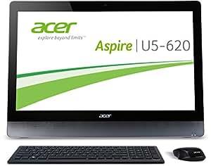 Acer Aspire U5-620 58,4 cm (23 Zoll) All-in-One Desktop-PC (Intel Core i7 4702QM, 2,2GHz, 8GB RAM, 1TB HDD, NVIDIA GeForce GTX850M, DVD, Win 8,1) schwarz