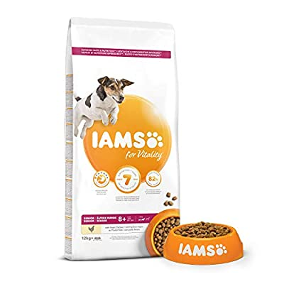 IAMS for Vitality Senior Dog Food Small/Medium Breed with Fresh Chicken by FEANDREA