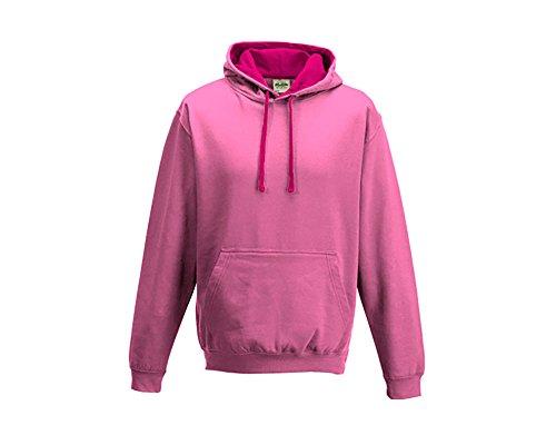 Varsity sweat-shirt à capuche à capuche pull-over à capuche unisexe coloré - Candyfloss Pi Hot Pink