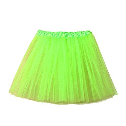 Fuibo [Damen Röcke Womens hochwertige Plissee Gaze kurzen Rock Erwachsenen Tutu Tanzen Rock (Grün)