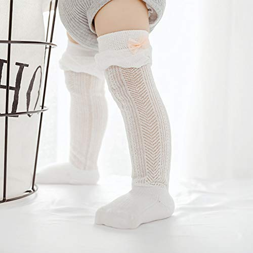 Elanpu Sommer Mesh dünne Baumwolle Hohl Baby Socken 0-1-3 Jahre alt Spitze Socken Rohr, um Mücken zu verhindern 3 STK,H,M