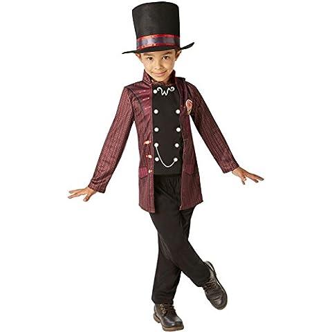 Willy Wonka - Charlie y la fábrica de chocolate para niños Disfraz - Grande - 128cm - Edad 7-8