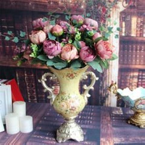 Nuovi 20pcs Big 7CM Nastro Rosa imbottite Felt Sweet Heart Craft Appliques (Imbottito Applique Craft)