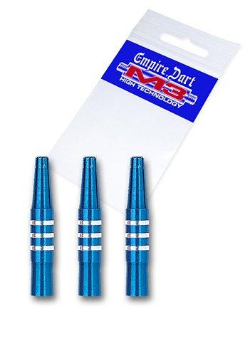 Empire Dart Schaft-Set M3 Aluminium kurz Blau