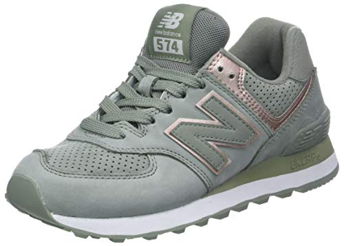 low cost 2f4e6 b45b3 New Balance 574v2, Scarpa da Tennis Donna, Grigio (Brown Seed Champagne  Metallic