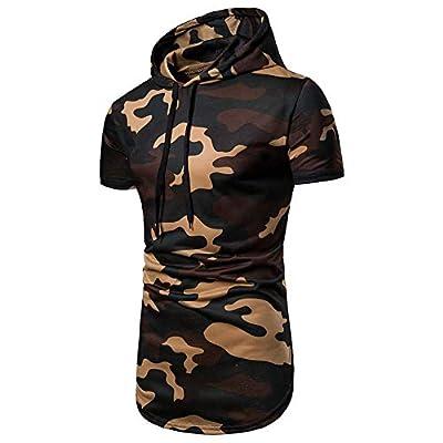 Sannysis Herren Slim Fit Hoodie T-Shirt Kapuzenpullover Unterhemden Ärmellos Muskelshirt Fitness Sommer Basic Kurzarm