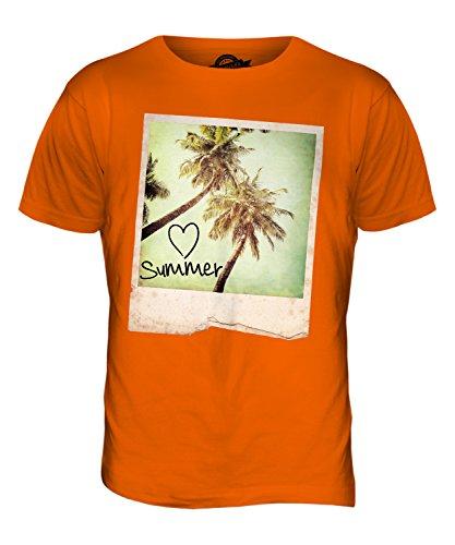 CandyMix Ich Liebe Sommer Herren T Shirt Orange