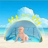 HUSAN tragbares Baby-Strandzelt, leichtes Pop-Up-Zelt, Kiddiezelt-Pool, UPF 50+ Sun Shade Shelter,...