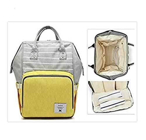 AlisaPrinceQ Wickeltasche, Rucksack, Windeltasche für Mädchen, Reisen, großes Fassungsvermögen, strapazierfähige Babytasche (Wickeltasche Stilvolle Baby-jungen)