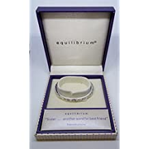Equilibrium 'Sister..another word for best friend' Silver plated Hinged Bangle by Equilibrium Technologies