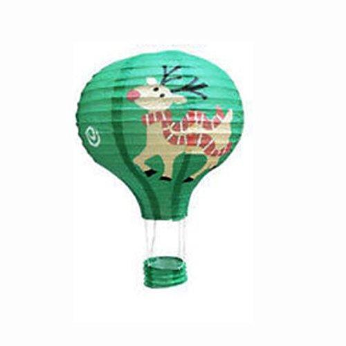 Kicode BigFamily Heißluftballon Elk Deer Papierlaterne Lampshade Licht chinesische Lampen Wishing Weihnachten Hochzeit