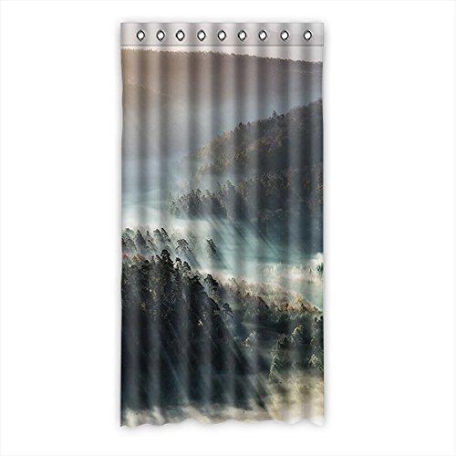 Brauch Fog Zahn Fenster Vorhang Window Curtain Licht Beweis Polyester Fabrik für Schlafzimmer oder Wohnzimmer 127 Zentimeters x 244 Zentimeters (ein Stück)