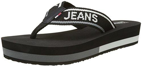 Hilfiger Denim Tommy Jeans Mid Beach Sandal, Chanclas para Mujer, Negro (Black 990), 42 EU