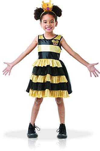 Bee Kostüm Queen Kinder - Rubie's Offizielles Kostüm - Luxus-Kostüm Lol- Queen Bee + Haarreif mit Netz - Größe MI-300144M