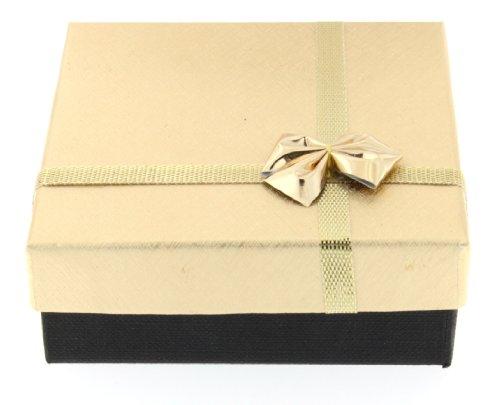 Geschenkschachtel goldfarben 8x8x3cm BOX-G