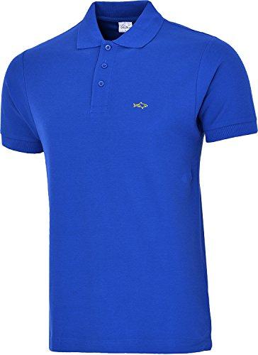 John Shark Herren T-Shirt, Logo Gr. Medium, Königsblau