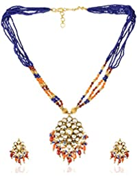 Padam Shree Gold Plated Multi-Strand Necklace Set For Women (Padam Shree_ 176)