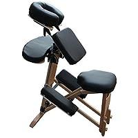 H-ROOT Massage Stuhl Licht Holz Rahmen mit Tragetasche