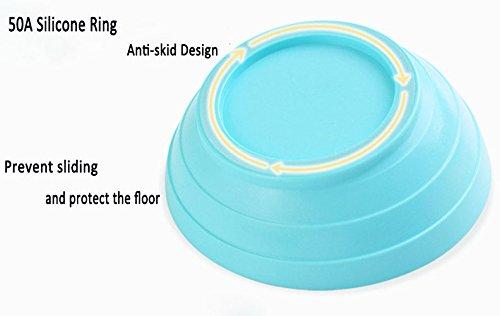 Da Jia Inc Tilt Kreative rutschfeste robuste Pet Schüssel Futternapf flach Face Cat Schüssel mit breitem Rand (Blau) - 3