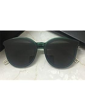 KUKI Gafas de sol grandes de marco redondo para mujer , 2
