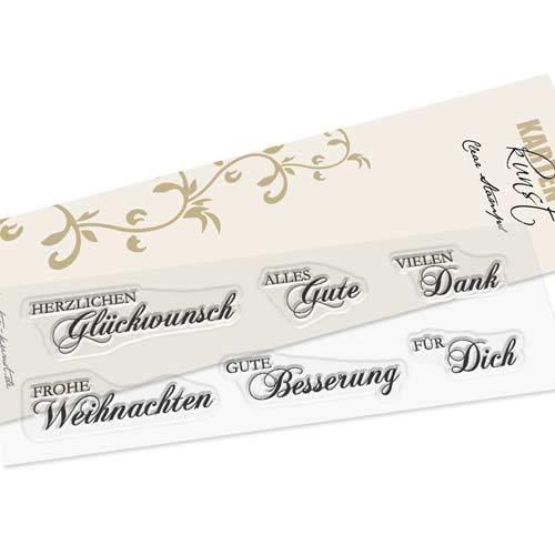 Clear-Stamp-Set Stempel-Gummi Karten-Kunst - Herzlichen Glückwunsch, Frohe Weihnachten, Gute Besserung, Vielen Dank, Für Dich, Alles Gute - Garachopin -