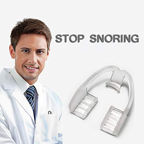 SUN RNPP Atmungshilfen & Nasenstrips Hilfsmittel gegen Schnarchen schlafmittel nachtmundschutz mundstück, einstellbare schnarchreduzierung für männer und Frauen,2stk